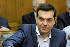 Primeiro-ministro grego, Alexis Tsipras, durante encontro em Atenas.  25/09/2015   REUTERS/Michalis Karagiannis