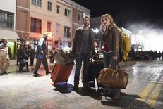 """A young couple played by Chase Crawford (L) and Rebecca Rittenhouse appear in a scene from ABC's """"Blood and Oil"""" in this undated handout picture courtesy of ABC Television Network. REUTERS/ABC/Fred Hayes/Handout via Reuters"""