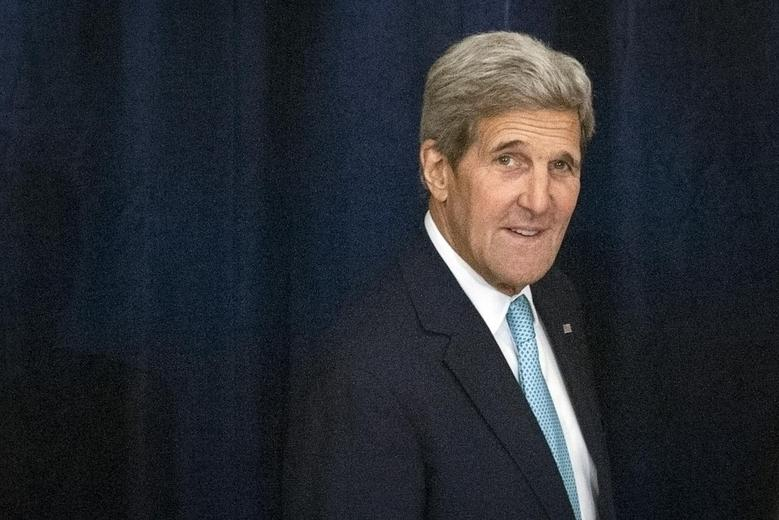 U.S. Secretary of State John Kerry arrives for a high-level United Nations (U.N.) event on Afghanistan, at the Palace Hotel in New York, September 26, 2015. REUTERS/Stephanie Keith