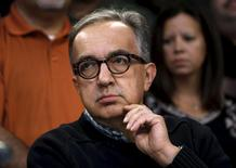 Fiat Chrysler Automobiles (FCA) CEO Sergio Marchionne attends a news conference   in Detroit, Michigan, September 15, 2015.  REUTERS/Rebecca Cook