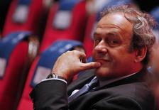 Presidente da Uefa, Michel Platini, antes de sorteio da Liga Europa, em Monte Carlo. 28/08/2015 REUTERS/Eric Gaillard