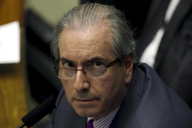 President of Brazil's Chamber of Deputies Eduardo Cunha participates in a session of the chamber in Brasilia, Brazil, September 22, 2015. REUTERS/Ueslei Marcelino
