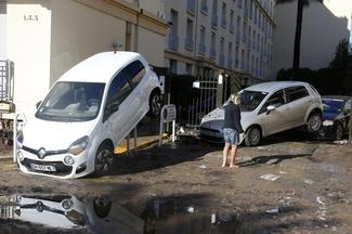 French Riviera flash floods