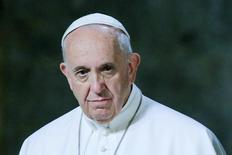 El Papa Francisco durante una ceremonia en el Museo del 11 de septiembre en Nueva York, 21 de septiembre de 2015.  REUTERS/Eduardo Munoz/AFP/POOL
