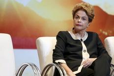 Presidente Dilma Rousseff durante cerimônia em Brasília.  7/10/2015. REUTERS/Adriano Machado