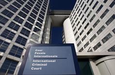 Вход в здание Международного уголовного суда в Гааге. 3 марта 2011 года. Следователи Международного уголовного суда планируют начать расследование вероятных преступлений в ходе российско-грузинского конфликта 2008 года, впервые обратив взор на Москву, которая выступает оппонентом суда в Гааге. REUTERS/Jerry Lampen