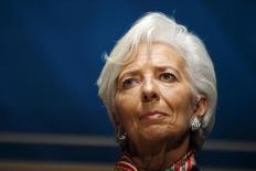 Diretora-gerente do Fundo Monetário Internacional (FMI), Christine Lagarde, durante evento em Lima.  08/10/2015   REUTERS/Guadalupe Pardo
