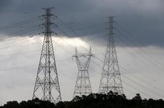 Torres de transmissão de eletricidade perto da represea Billings, em Diadema, São Paulo. 10/02/2015 REUTERS/Paulo Whitaker