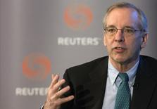 New York Federal Reserve Bank President William Dudley speaks at a Thomson Reuters newsmaker event in New York April 8, 2015. REUTERS/Brendan McDermid