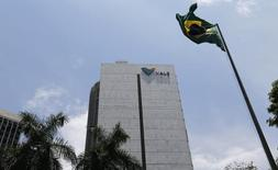 La sede de Vale, en el centro de Río de Janeiro, 22 de enero de 2015. La minera brasileña Vale SA informó el lunes que produjo 88,2 millones de toneladas de mineral de hierro durante el tercer trimestre, volumen que es un máximo histórico para la empresa y una mayor producción en un mercado ya está saturado. REUTERS/Sergio Moraes
