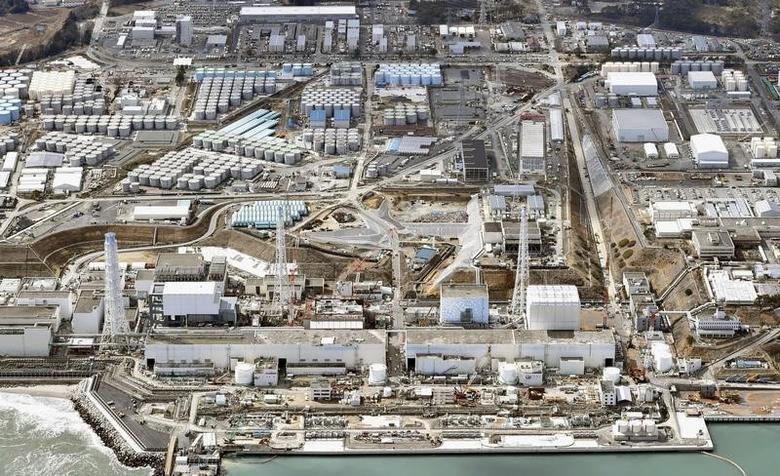 General aerial view of Tokyo Electric Power Co. (TEPCO)'s tsunami-crippled Fukushima Daiichi nuclear power plant in Fukushima prefecture, taken by Kyodo March 11, 2015.  REUTERS/Kyodo