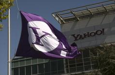 Yahoo, a publié un bénéfice et un chiffre d'affaires trimestriels inférieurs aux attentes, à suivre mercredi sur les marchés américains. /Photo d'archives/REUTERS/Robert Galbraith
