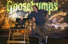"Ator Jack Black, do filme ""Goosebumps"", durante sessão de fotos em West Hollywood, nos Estados Unidos. 02/10/2015 REUTERS/Mario Anzuoni"