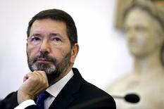 Marino concede entrevista em Roma. 20/10/2015.  REUTERS/Yara Nardi