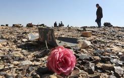 Обломки самолета Когалымавиа близ города эль-Ариш в Египте 1 ноября 2015 года. Российский пассажирский самолет A321, рухнувший в Египте в субботу, получил сертификат лётной годности ранее в этом году, сообщили регулирующие органы в Ирландии, где лайнер был зарегистрирован. REUTERS/Mohamed Abd El Ghany