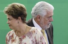 Presidente Dilma Rousseff durante evento com ministro Jaques Wagner em Brasília. 22/10/2015.  REUTERS/Adriano Machado