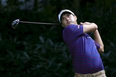 Kevin Kisner of the U.S. tees off on the fifth hole during the second round of the WGC-HSBC Champions golf tournament in Shanghai, China, November 6, 2015. REUTERS/Aly Song