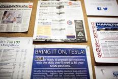 Quadro com ofertas de emprego visto em Nevada, Estados Unidos.  16/09/2014      REUTERS/Max Whittaker