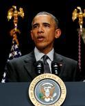 El presidente de Estados Unidos, Barack Obama, en una conferencia en la Casa Blanca en Washington, nov 5, 2015. El presidente de Estados Unidos, Barack Obama, rechazó el viernes el oleoducto Keystone XL entre Canadá y Nebraska, más de siete años después de la primera propuesta sobre el controvertido proyecto.  REUTERS/Jonathan Ernst
