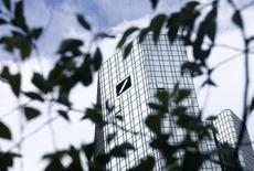 Una imagen general de la sede de Deutsche Bank en Fráncfort, Alemania, el 9 de junio de 2015. Los reguladores de la banca europea prevén que las pruebas de solvencia a las grandes entidades se lleven a cabo cada dos años desde 2016, dijo el director ejecutivo de la Autoridad Bancaria Europea, Adam Farkas. REUTERS/Ralph Orlowski