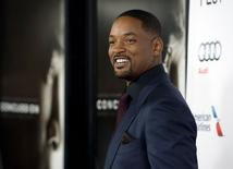 "Will Smith em lançamento do filme ""Concussion"" em Hollywood.  10/11/2015. REUTERS/Kevork Djansezian"