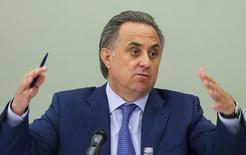 Ministro dos Esportes da Rússia, Vitaly Mutko, durante evento em Moscou.  08/06/2015  REUTERS/Maxim Shemetov