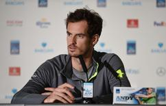 Tennis - Barclays ATP World Tour Finals Media Day - O2 Arena, London - 13/11/15 Great Britain's Andy Murray during a press conference Action Images via Reuters / Tony O'Brien Livepic