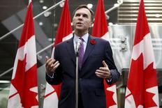 Canada's Finance Minister Bill Morneau speaks during a news conference in Ottawa, Canada November 10, 2015. REUTERS/Chris Wattie