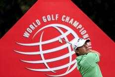 Kevin Kisner of the U.S. tees off on the sixth hole during the third round of the WGC-HSBC Champions golf tournament in Shanghai, China, November 7, 2015. REUTERS/Aly Song
