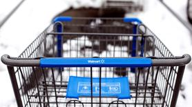 A Walmart shopping cart is seen in their parking lot in Westbury,New York, February 17, 2010. REUTERS/Shannon Stapleton