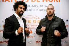 Boxing - David Haye Press Conference - O2 Arena, London - 24/11/15 David Haye and Mark De Mori pose after the press conference Action Images via Reuters / Henry Browne Livepic