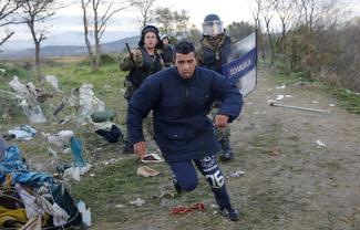 Desperation on the Macedonia border
