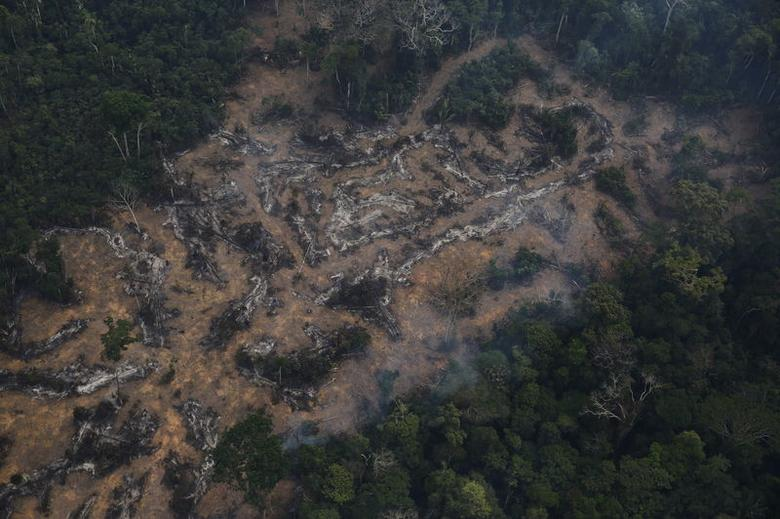 An aerial view of a deforested plot of the Amazon at the Bom Futuro National Forest in Porto Velho, Rondonia State, Brazil, September 3, 2015. REUTERS/Nacho Doce