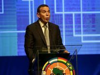 Presidente da Conmebol, Juan Angel Napout, durante evento no Paraguai.   17/07/2015    REUTERS/Jorge Adorno