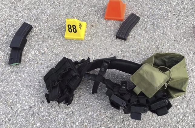 Ammunition confiscated from last Wednesday's attack in San Bernardino, California are shown in this San Bernardino County Sheriff Department handout photo from their Twitter account released to Reuters December 3, 2015.  REUTERS/San Bernardino County Sheriffs Department/Handou