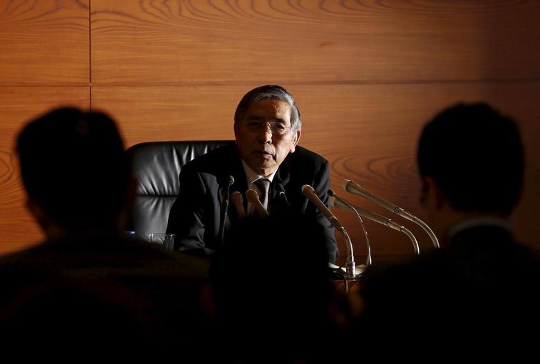 Bank of Japan (BOJ) Governor Haruhiko Kuroda speaks during a news conference at the BOJ headquarters in Tokyo, Japan, November 19, 2015. REUTERS/Yuya Shino