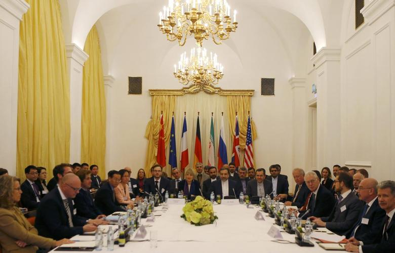 A general view of a meeting of the joint commission tasked with monitoring the implementation of a nuclear deal between Iran and six world powers in Vienna, Austria, December 7, 2015. REUTERS/Heinz-Peter Bader
