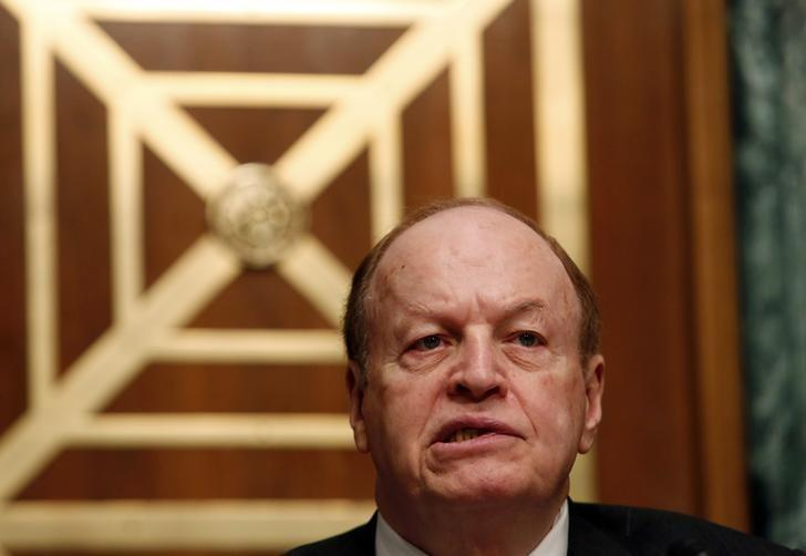 Chairman Richard Shelby (R-AL) speaks during a Senate Banking, Housing and Urban Affairs Committee hearing on Perspectives on the Strategic Necessity of Iran Sanctions, on Capitol Hill in Washington, January 27, 2015. REUTERS/Yuri Gripas