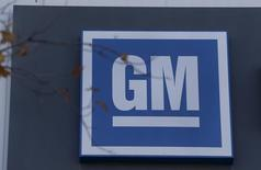 The GM logo is seen at the General Motors Lansing Grand River Assembly Plant in Lansing, Michigan October 26, 2015. REUTERS/Rebecca Cook/Files