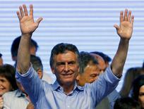 Presidente eleito da Argentina, Mauricio Macri, durante evento em Buenos Aires.  22/11/2015   REUTERS/Ivan Alvarado