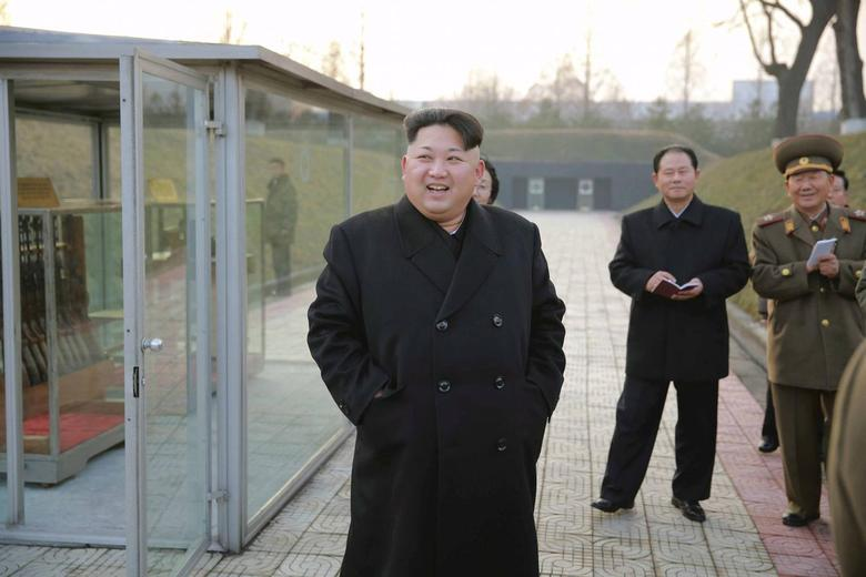 North Korean leader Kim Jong Un (front) visits the Phyongchon Revolutionary Site, in this undated photo released by North Korea's Korean Central News Agency (KCNA) in Pyongyang December 10, 2015. REUTERS/KCNA