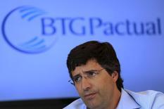 Ex-acionista controlador e fundador do BTG Pactual, André Esteves, durante entrevista em São Paulo.  22/07/2014      REUTERS/Nacho Doce