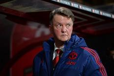 "Técnico do Manchester United, Louis Van Gaal, em partida contra o Bournemouth pela Liga Inglesa.  12/12/2015 Action Images via Reuters / Tony O'Brien Livepic EDITORIAL USE ONLY. No use with unauthorized audio, video, data, fixture lists, club/league logos or ""live"" services. Online in-match use limited to 45 images, no video emulation. No use in betting, games or single club/league/player publications.  Please contact your account representative for further details."