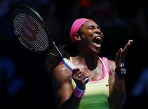 Serena Williams no Aberto da Austrália de 2015. 22/01/2015 REUTERS/Issei Kato