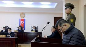 South Korea-born Canadian pastor Hyeon Soo Lim attends his trial at a North Korean court in this undated photo released by North Korea's Korean Central News Agency (KCNA) in Pyongyang December 16, 2015.  REUTERS/KCNA