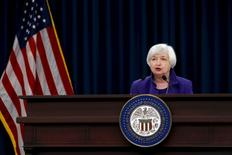 U.S. Federal Reserve Chairman Janet Yellen holds a news conference in Washington December 16, 2015.  REUTERS/Jonathan Ernst -