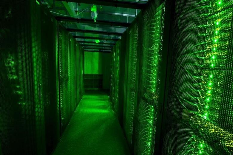 Servers for data storage are seen at Advania's Thor Data Center in Hafnarfjordur, Iceland August 7, 2015. REUTERS/Sigtryggur Ari