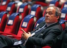 Michel Platini durante evento em Monte Carlo.   28/08/2015    REUTERS/Eric Gaillard