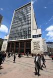 El Banco Central de Colombia en Bogotá, abr 7, 2015. El déficit de cuenta corriente de Colombia creció a un 6,6 por ciento del Producto Interno Bruto (PIB) entre enero y septiembre, frente a un 4,7 por ciento en igual periodo del año pasado, informó el martes el Banco Central.  REUTERS/Jose Miguel Gomez
