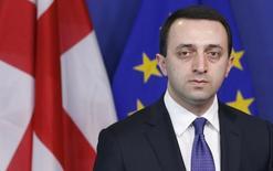Премьер-министр Грузии Ираклий Гарибашвили в штаб-квартире НАТО в Брюсселе 3 февраля 2014 года. Гарибашвили в среду ушел в отставку, менее чем за год до парламентских выборов и на фоне снижения популярности правящей партии. REUTERS/Francois Lenoir